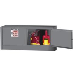 Sure-Grip® EX Piggyback Flammable Safety Cabinet, 12 Gallon, M/C Doors, Gray (Intl)