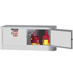 Sure-Grip® EX Piggyback Flammable Safety Cabinet,12 Gallon, M/C Doors, White (Intl)