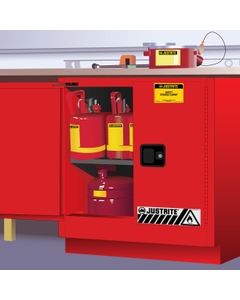 Sure-Grip® EX Undercounter Flammable Safety Cabinet, 22 Gallon, M/C Doors, Red