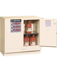 Sure-Grip® EX Undercounter Flammable Safety Cabinet, 22 Gallon, M/C Doors, White (Intl)