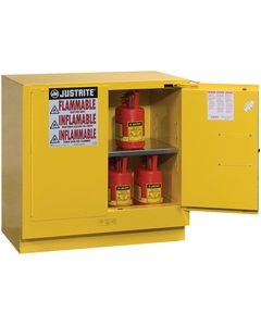 Sure-Grip® EX Undercounter Flammable Safety Cabinet, 22 Gallon, S/C Doors, Yellow