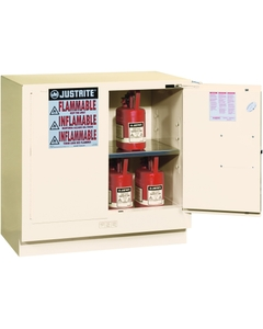 Sure-Grip® EX Undercounter Flammable Safety Cabinet, 22 Gallon, S/C Doors, White