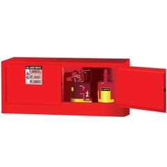 Sure-Grip® EX Piggyback Flammable Safety Cabinet,12 Gallon, M/C Doors, Red (Intl)