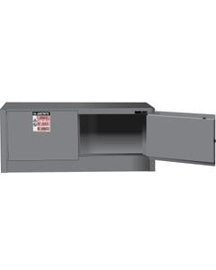 Sure-Grip® EX Piggyback Flammable Safety Cabinet,12 Gallon, S/C Doors, Gray