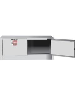Sure-Grip® EX Piggyback Flammable Safety Cabinet,12 Gallon, S/C Doors, White