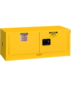 Sure-Grip® EX Piggyback Flammable Safety Cabinet,12 Gallon, S/C Doors, Yellow
