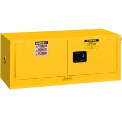 Sure-Grip® EX Piggyback Flammable Safety Cabinet,12 Gallon, S/C Doors, Yellow (Intl)