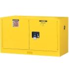 Sure-Grip® EX Piggyback Flammable Safety Cabinet,17 Gallon, M/C Doors, Yellow