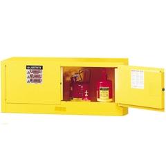 Sure-Grip® EX Piggyback Flammable Safety Cabinet,12 Gallon, M/C Doors, Yellow