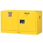 Sure-Grip® EX Wall Mount Flammable Safety Cabinet, 17 Gallon, M/C Door, Yellow