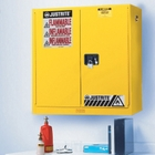 Sure-Grip® EX Wall Mount Flammable Safety Cabinet, 20 Gallon, M/C Door, Yellow