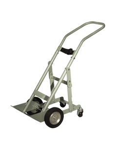 """Single Gas Cylinder Hand Truck, 8"""" Semi-Pneumatic Wheels, Rear Casters (Tools)"""