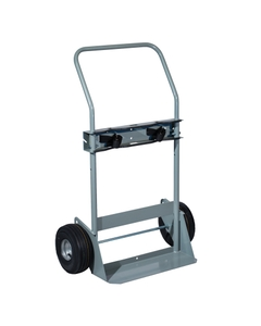 """Double Gas Cylinder Hand Truck, 10.5"""" Pneumatic Wheels (Tools)"""