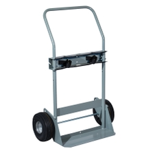 """Double Gas Cylinder Hand Truck, 10"""" Flat-Free Wheels (Tools)"""