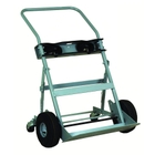 """Double Gas Cylinder Hand Truck, 10.5"""" Pneumatic Wheels. Rear Casters (Tools)"""