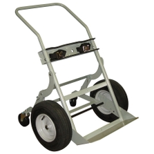 """Double Gas Cylinder Hand Truck, 16"""" Pneumatic Wheels, Rear Casters (Tools)"""