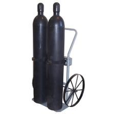 """Double Gas Cylinder Hand Truck, 20"""" Steel Wheels (Tools)"""