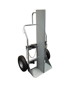 """Double Gas Cylinder Hand Truck w/Firewall, 16"""" Pneumatic Wheels (Tools)"""