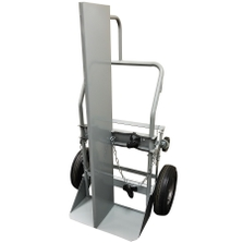 """Double Gas Cylinder Hand Truck w/Firewall, 10.5"""" Pneumatic Wheels (Tools)"""