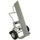Double Gas Cylinder Hand Truck w/Firewall, 16: Pneumatic Wheels, Rear Casters (Tools)