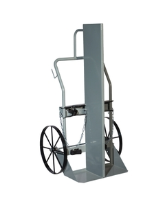 """Double Gas Cylinder Hand Truck w/Firewall, 20"""" Steel Wheels (Tools)"""