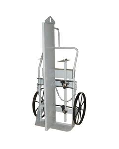 "Double Gas Cylinder Hand Truck w/Firewall & Hoist Ring, 20"" Steel Wheels, Tool Box (Tools)"