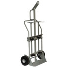 """Double Gas Cylinder Hand Truck w/Hoist Ring 10.5"""" Pneumatic Wheels (Tools)"""