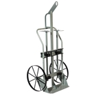 """Double Gas Cylinder Hand Truck w/Hoist Ring, 10.5"""" Pneumatic Wheels, Rear Casters (Tools)"""