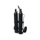 """Double Gas Cylinder Hand Truck w/Hoist Ring, 16"""" Pneumatic Wheels (Tools)"""