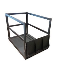 Gas Cylinder Forklift Pallet w/Ramp, 14 Cylinder Capacity, End Loaded (Tools)