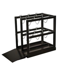 6-Cylinder (2x3) Gas Cylinder Barricade Storage Rack w/Ramp