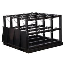 12-Cylinder (3x4) Gas Cylinder Barricade Storage Rack w/Ramp