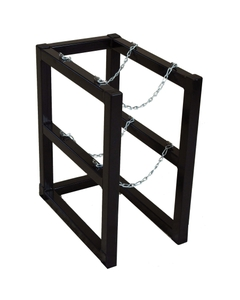 Gas Cylinder Barricade Rack 2 Cylinder Capacity 1 Wide by 2 Deep (Tools)