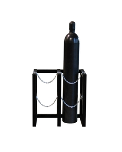 2-Cylinder (2x1) Gas Cylinder Barricade Storage Rack