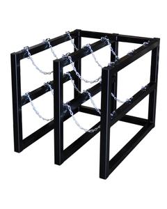 6-Cylinder (2x3) Gas Cylinder Barricade Storage Rack