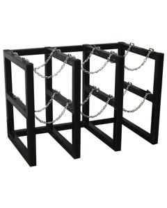 6-Cylinder (3x2) Gas Cylinder Barricade Storage Rack