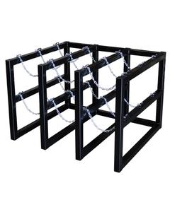 9-Cylinder (3x3) Gas Cylinder Barricade Storage Rack
