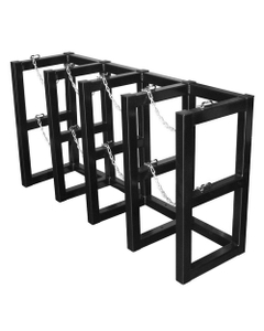 4-Cylinder (4x1) Gas Cylinder Barricade Storage Rack