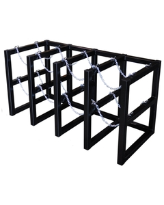 8-Cylinder (4x2) Gas Cylinder Barricade Storage Rack