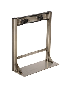 Gas Cylinder Stand, 2 Cylinder Capacity, Stainless Steel