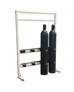 Gas Cylinder Process Stand, 4 Cylinder Capacity