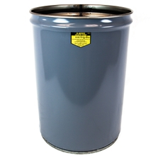 12 Gallon Gray Cease-Fire® Waste Receptacle Safety Drum Can