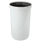 6 Gallon White Cease-Fire® Waste Receptacle Safety Drum Can