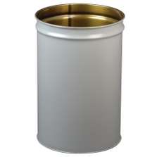 55 Gallon Gray Cease-Fire® Waste Receptacle Safety Drum Can