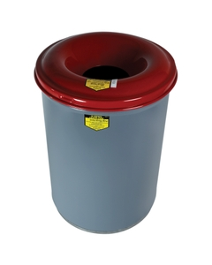 12 Gallon Gray Cease-Fire® Waste Receptacle Safety Drum Can w/Steel Head