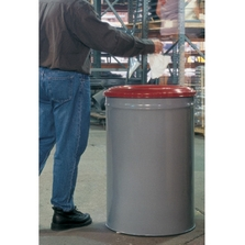 15 Gallon Gray Cease-Fire® Waste Receptacle Safety Drum Can w/Steel Head