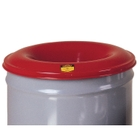 30 Gallon Gray Cease-Fire® Waste Receptacle Safety Drum Can w/Steel Head