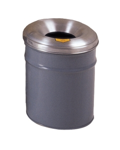 4.5 Gallon Gray Cease-Fire® Waste Receptacle Safety Drum Can w/Aluminum Head