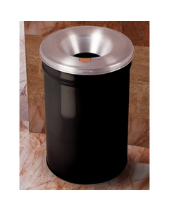 4.5 Gallon Black Cease-Fire® Waste Receptacle Safety Drum Can w/Aluminum Head
