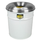 4.5 Gallon White Cease-Fire® Waste Receptacle Safety Drum Can w/Aluminum Head